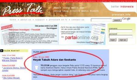 Tajuk Rakyat di Presstalk.Info