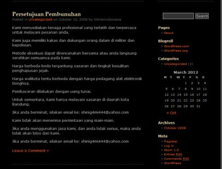 hitman pembunuh bayaran Indonesia