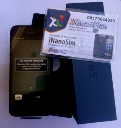 Paket bundle iPhone5 dari XL
