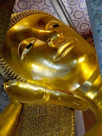 Buddha   Wajah Buddha sedang rebahan