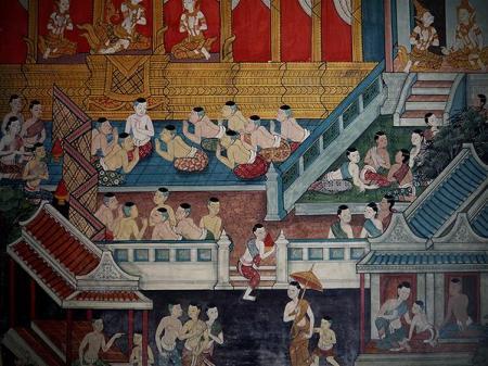 mural Buddha Wat Pho