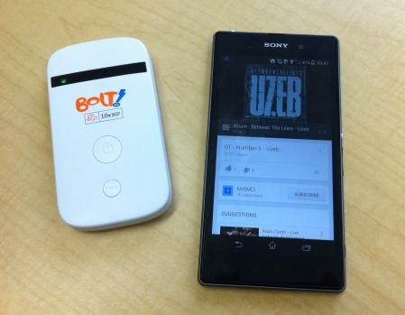 modem Bolt!, sony xperia, wifi