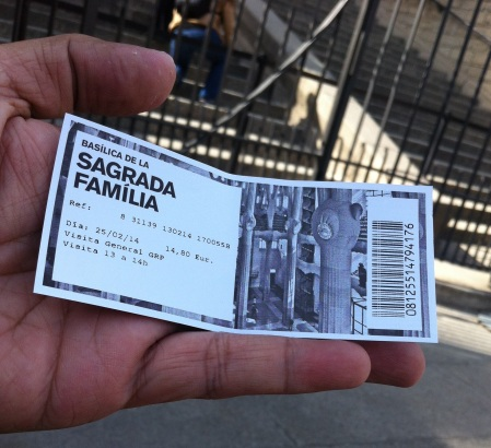 Sagrada Familia, ticket, entry