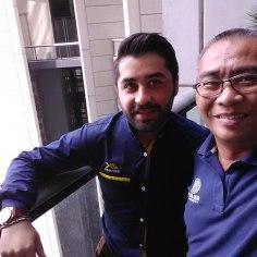 Sohrab Parsa (kiri) yang sangat ramah dan bersahabat.