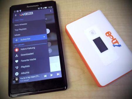 DUET MAUT |  smartphone dan modem wifi Bolt!